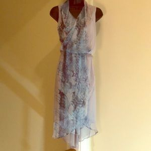SIMPLYVERA gray blue size S pull on dress w/beads